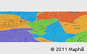 Political Panoramic Map of Zigong Shiqu