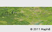 Satellite Panoramic Map of Zigong Shiqu