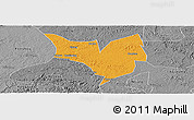 Political Panoramic Map of Zizhong, desaturated