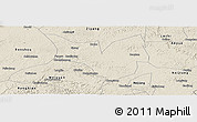 Shaded Relief Panoramic Map of Zizhong