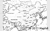 Blank Simple Map of China