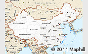 Classic Style Simple Map of China