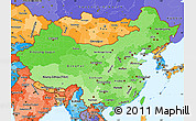 Political Shades Simple Map of China