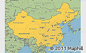 Savanna Style Simple Map of China