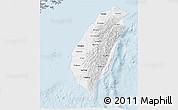 Gray 3D Map of Taiwan