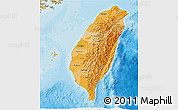 Political Shades 3D Map of Taiwan