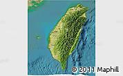 Satellite 3D Map of Taiwan
