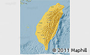 Savanna Style 3D Map of Taiwan