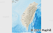Shaded Relief 3D Map of Taiwan