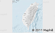 Silver Style 3D Map of Taiwan