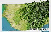 Satellite Panoramic Map of Gaoxiong