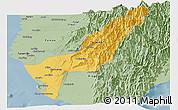 Savanna Style Panoramic Map of Gaoxiong