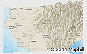 Shaded Relief Panoramic Map of Gaoxiong