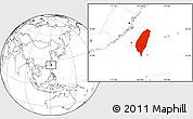 Blank Location Map of Taiwan