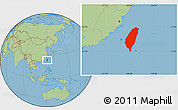 Savanna Style Location Map of Taiwan