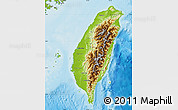 Physical Map of Taiwan