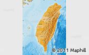 Political Shades Map of Taiwan