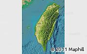 Satellite Map of Taiwan