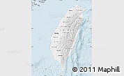 Silver Style Map of Taiwan