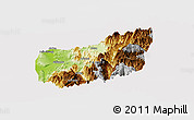 Physical Panoramic Map of Nantou, cropped outside