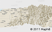 Shaded Relief Panoramic Map of Nantou
