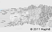 Silver Style Panoramic Map of Nantou