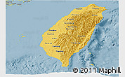 Savanna Style Panoramic Map of Taiwan