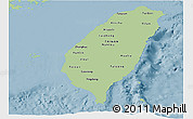 Savanna Style Panoramic Map of Taiwan, single color outside