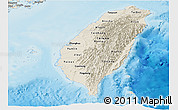 Shaded Relief Panoramic Map of Taiwan