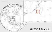 Blank Location Map of Penghu
