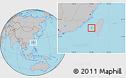 Gray Location Map of Penghu