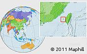 Political Location Map of Penghu