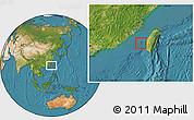 Satellite Location Map of Penghu