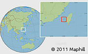 Savanna Style Location Map of Penghu