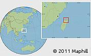Savanna Style Location Map of Taibei Shi