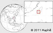 Blank Location Map of Tainan Shi