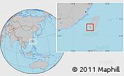 Gray Location Map of Tainan Shi