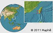 Satellite Location Map of Tainan Shi