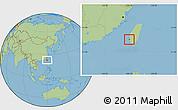 Savanna Style Location Map of Tainan Shi