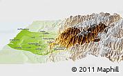 Physical Panoramic Map of Taizhong, lighten