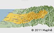 Savanna Style Panoramic Map of Taizhong