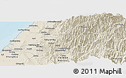 Shaded Relief Panoramic Map of Taizhong