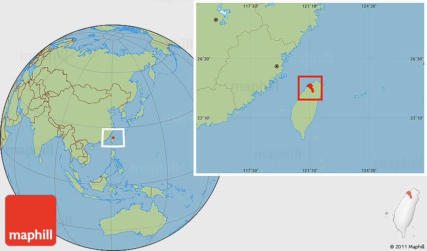 Savanna Style Location Map of Taoyuan