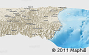 Shaded Relief Panoramic Map of Yilan