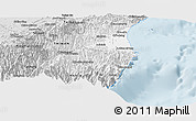 Silver Style Panoramic Map of Yilan