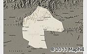 Shaded Relief Map of Ji Xian, darken