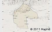 Shaded Relief Map of Ji Xian, lighten