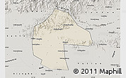 Shaded Relief Map of Ji Xian, semi-desaturated