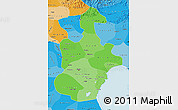 Political Shades Map of Tianjin
