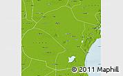 Physical Map of Tianjin Shiqu